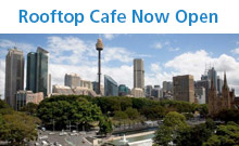 Rooftop Cafe now open