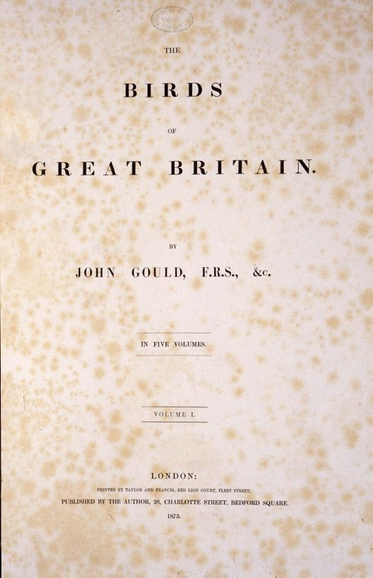 Title page for The Birds of Great Britain