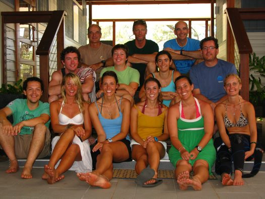 Fish researchers at Lizard Island
