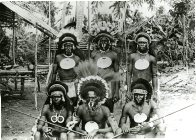 Group of men, Collingwood Bay, PNG