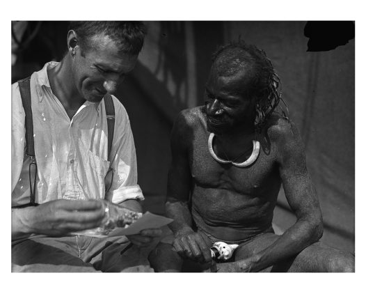 Allan McCulloch and Dukoif man, Lake Murray, Western Province, PNG