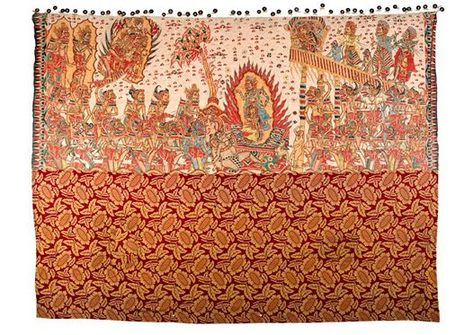 The Fire Ordeal of Sita: Bali painting E74169