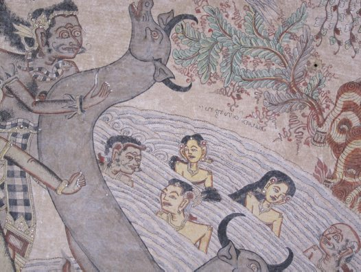 A scene from the Bima Swarga story