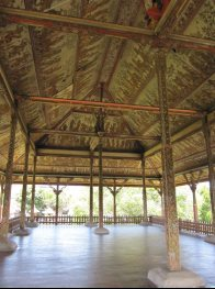 The panels of the Bale Kambang, Floating Pavilion