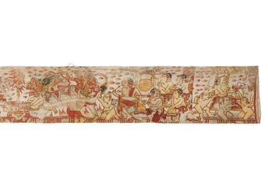 Pan and Men Brayut story, Balinese painting E74195D