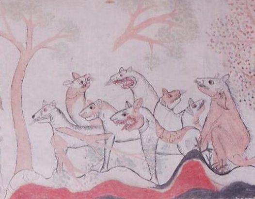 High Priest and Bull: Balinese painting E74253F