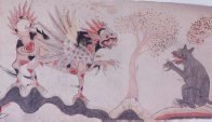 High priest and Bull: Balinese painting E74253A