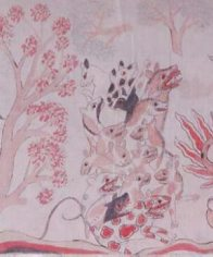 High Priest and Bull: Balinese painting E74253D