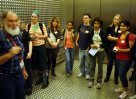 TAFE students on fish collection tour