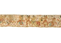 Hanoman and Bima: Balinese painting E74206B