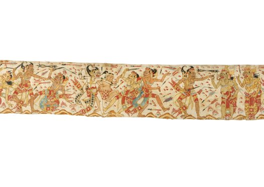 Hanoman and Bima: Balinese painting E74206C