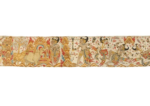 Hanoman and Bima: Balinese painting E74206E