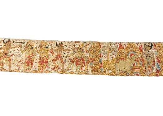 Hanoman and Bima: Balinese painting E74206D