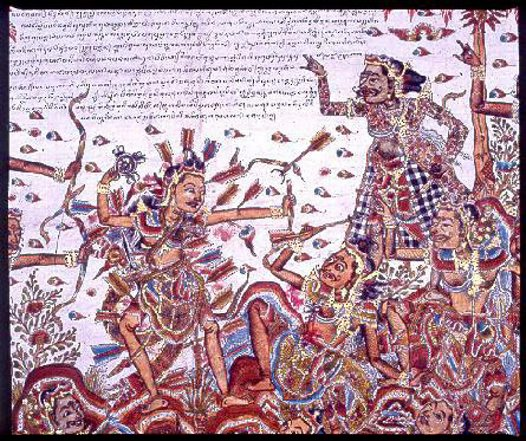 Death of Abimanyu, Balinese painting E74174B