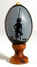 Carved Emu Egg - E092449 Peter Harris #1