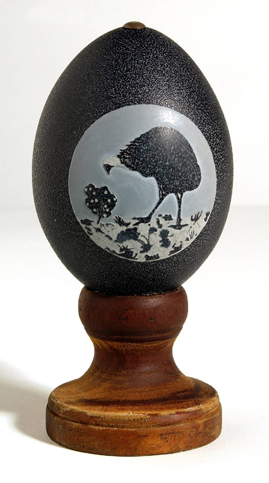 Carved Emu Egg - Emu