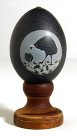 Carved Emu Egg - E092449 Peter Harris #2