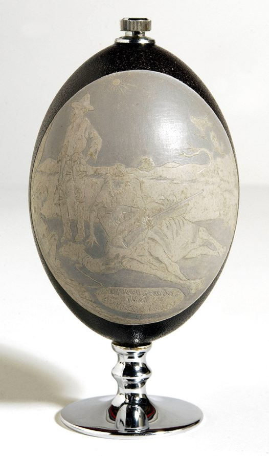 Carved Emu Egg - Burke and Wills Side 2