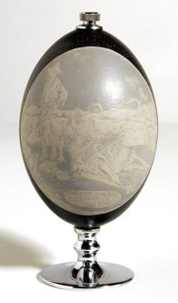 Carved Emu Egg - E092441 Peter Harris