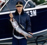 Stan Sek with a Swordfish