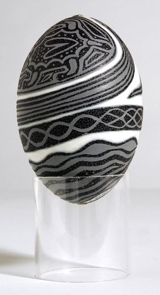 Carved Emu Egg Nhaatji Side 2