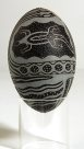 Carved Emu Egg - E085856-001 Badger Bates #1