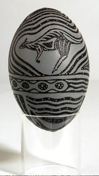 Carved Emu Egg Nhaatji Egg 2 Side 2
