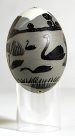 Carved Emu Egg - E085854-001 Badger Bates