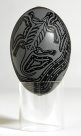 Carved Emu Egg - E085857-001 Badger Bates #1