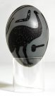 Carved Emu Egg - E085857-001 Badger Bates #2