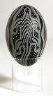 Carved Emu Egg - E085855-001 Badger Bates #1