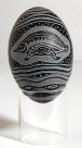 Carved Emu Egg - E085855-001 Badger Bates #2