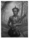 Man wearing ornaments, Samoa.