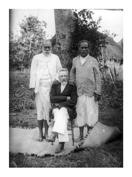 Rev George Brown, Ratu Levi and Aninio Bale, Fiji