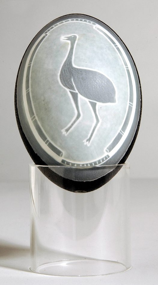Carved Emu Egg - E085676 Ian 'Toongee' Kennedy