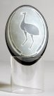 Carved Emu Egg - Ian 'Toongee' Kennedy 1