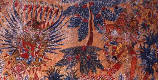 Abduction of Sita, Balinese painting E74186B