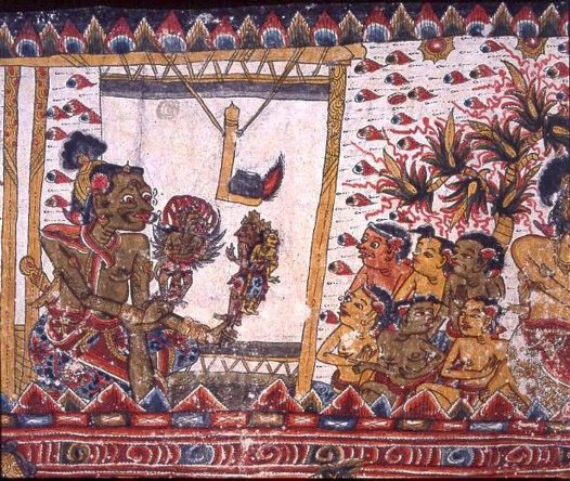 Courtly Romance, Balinese painting E74172C