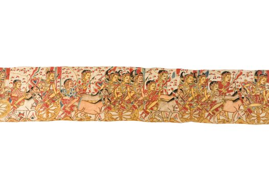 Death of King Wirata's Sons, Balinese painting E74209C