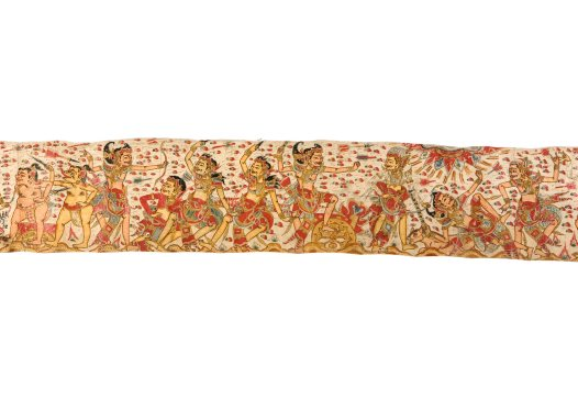 Death of King Wirata's Sons, Balinese painting E74209G