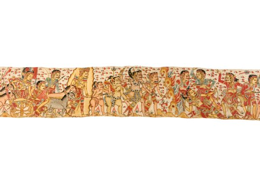Death of King Wirata's Sons, Balinese painting E74209D