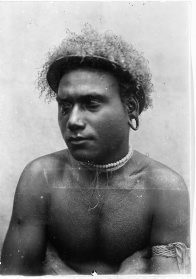 Panna, a chief of Simbo, Western Solomon Islands