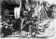 Women and children, fishing village, Blanche Bay, East New Britain, PNG
