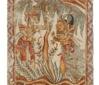 Ramayana Scenes: Balinese Painting E74190D