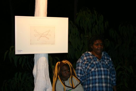 Dipililnga Marika with her son at the Gapan Gallery 2010