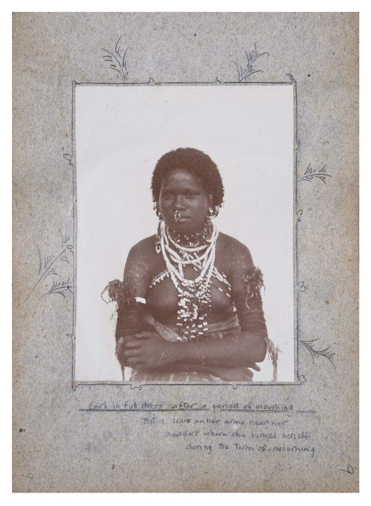 Girl in mourning dress, Oro Province PNG