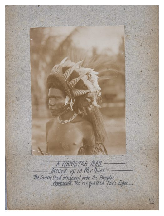 Portrait of a Wanigera man, Collingwood Bay, PNG