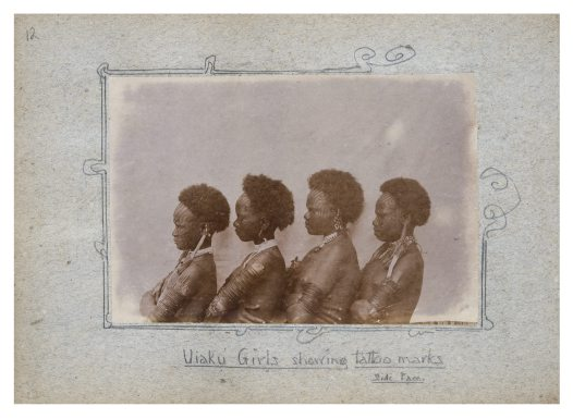 Group of Uiaku girls, Collingwood Bay, PNG