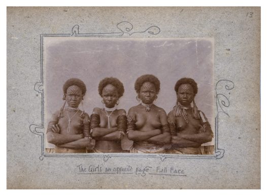Group of girls from Uiaku Village, Collingwood Bay PNG
