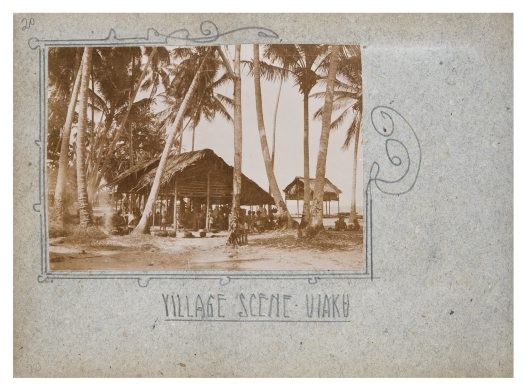 Village scene, Uiaku, Collingwood Bay, PNG